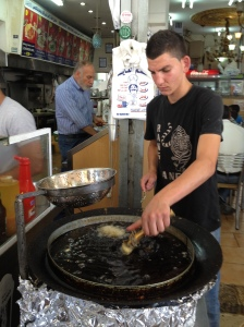 Falafel Frying in East Jerusalem