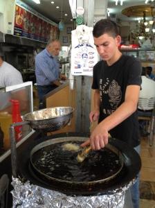 Falafel Frying in East Jerusalem