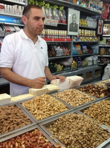 Nut, Candy and Date Vendor in East Jerusalem