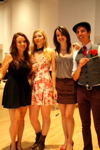 From left to right: Amanda Tien, Editor in Chief; Amelia Rosen, Events Manager; Manon Cooper, Managing Editor; Matt Powell, former Culinary Society president