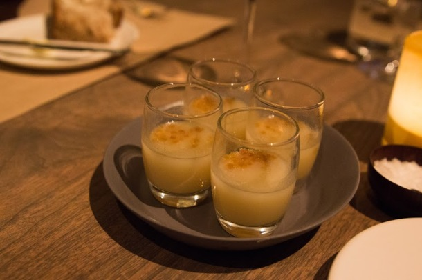 Amuse-bouche: Parsnip Soup with Coconut and Lime