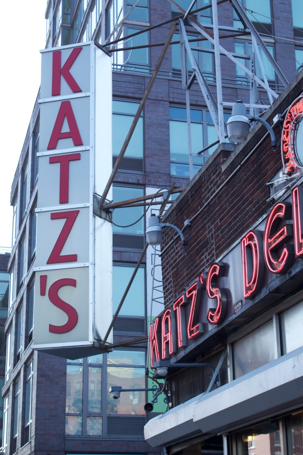 The classic sign greets Katz's customers