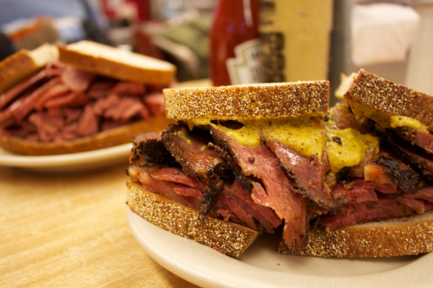 Katz's pastrami on rye with mustard